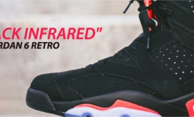 "NIKE AIR JORDAN 6 RETRO ""BLACK INFRARED"""