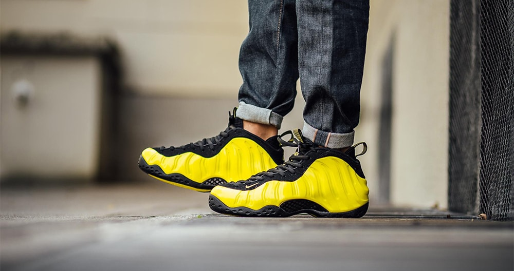 """NIKE AIR FOAMPOSITE ONE LE """"Yellow""""入荷☆"""