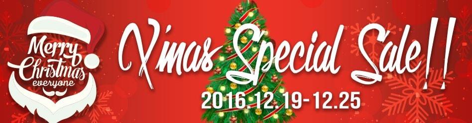 X'MAS SPECIAL SALE!!開催☆