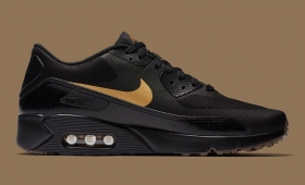 "【海外カラー】NIKE AIR MAX 90 ULTRA 2.0 ESSENTIAL ""Black/Gold""入荷☆"