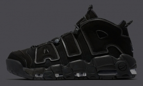 "NIKE AIR MORE UPTEMPO ""Triple Black Reflective""入荷☆"