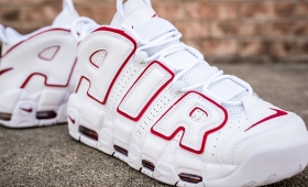 "NIKE AIR MORE UPTEMPO'96 ""White Varsity red""入荷☆"