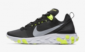 "【海外カラー】NIKE REACT ELEMENT 55 ""Black Volt""入荷☆"