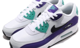 "【海外カラー】NIKE AIR MAX 90 ""White/Court Purple""入荷☆"