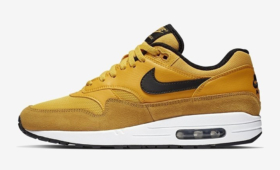 "NIKE AIR MAX 1 PREMIUM ""University Gold/Black""入荷☆"