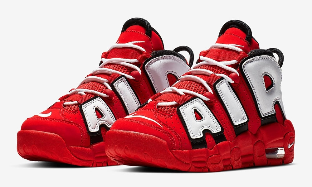 """NIKE AIR MORE UPTEMPO QS GS """"UNIVERSITY RED""""入荷☆"""