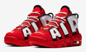 "NIKE AIR MORE UPTEMPO QS GS ""UNIVERSITY RED""入荷☆"