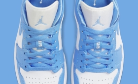"NIKE WMNS AIR JORDAN 1 LOW ""UNIVERSITY BLUE""入荷☆"