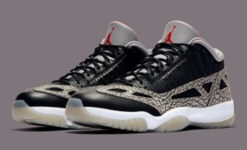 "NIKE AIR JORDAN 11 LOW IE ""Black Cement""入荷☆"